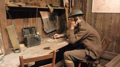The displays at the Cantigny museum were interesting for all three of my boys