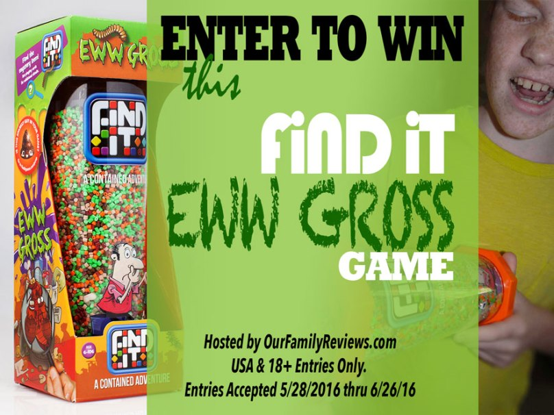 Enter the giveaway for Find It Eww Gross game