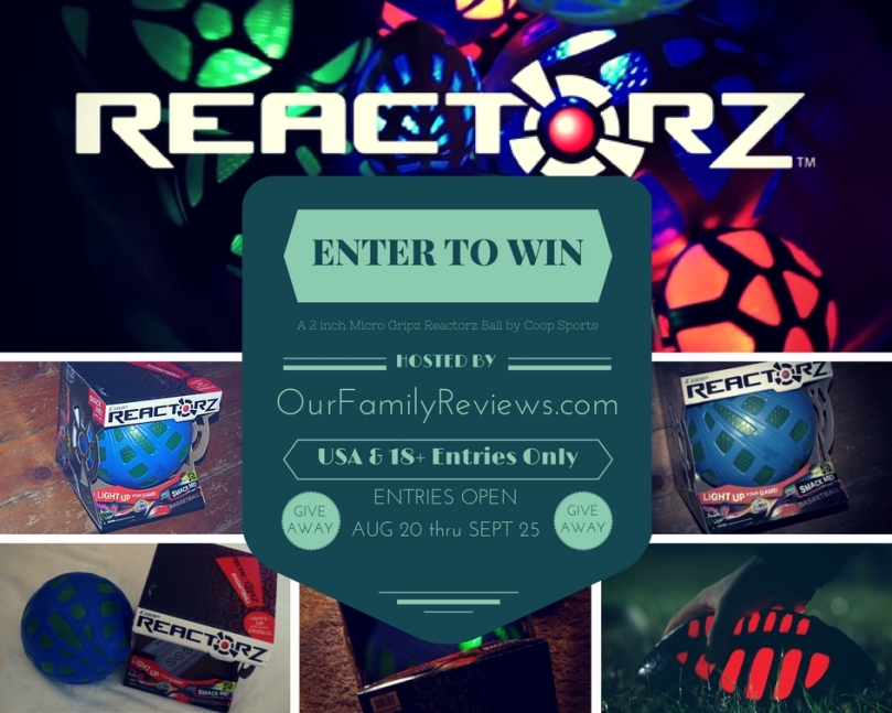 CLICK TO ENTER Our Reactorz Micro Gripz Ball GIVEAWAY