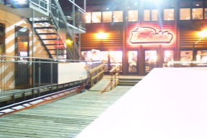 The Breezy Belle docked at the Dockside Lounge