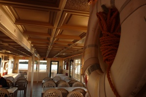 The lower deck of the Breezy Belle