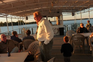 Captain George was fun to meet and talk with as he accommodated for his guests aboard the Breezy Belle!