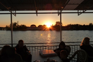 What a great view of the sunset. The view of the sunset from the Breezy Belle was breathtaking.