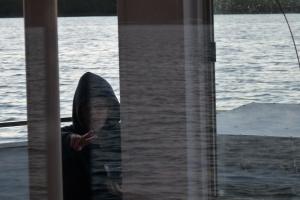 Artistic photo of Keller aboard the Breezy Belle