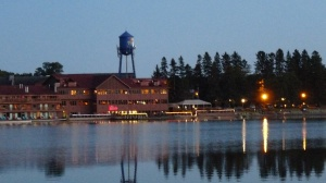 A view of Breezy Point Resort from the the bow of the Breezy Belle