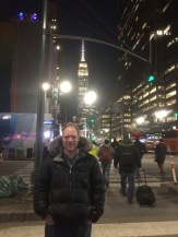 We enjoyed dinner at a diner, here's the Empire State Building behind me