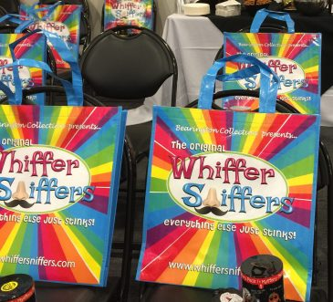 With KidStuff PR, we held two press conference at the NY Toy Fair for our 14 exhibiting clients and each media guest received a Whiffer Sniffers bag and Series 4 sample, an Aeromax Toys bag and a sample from Circuit Scribe