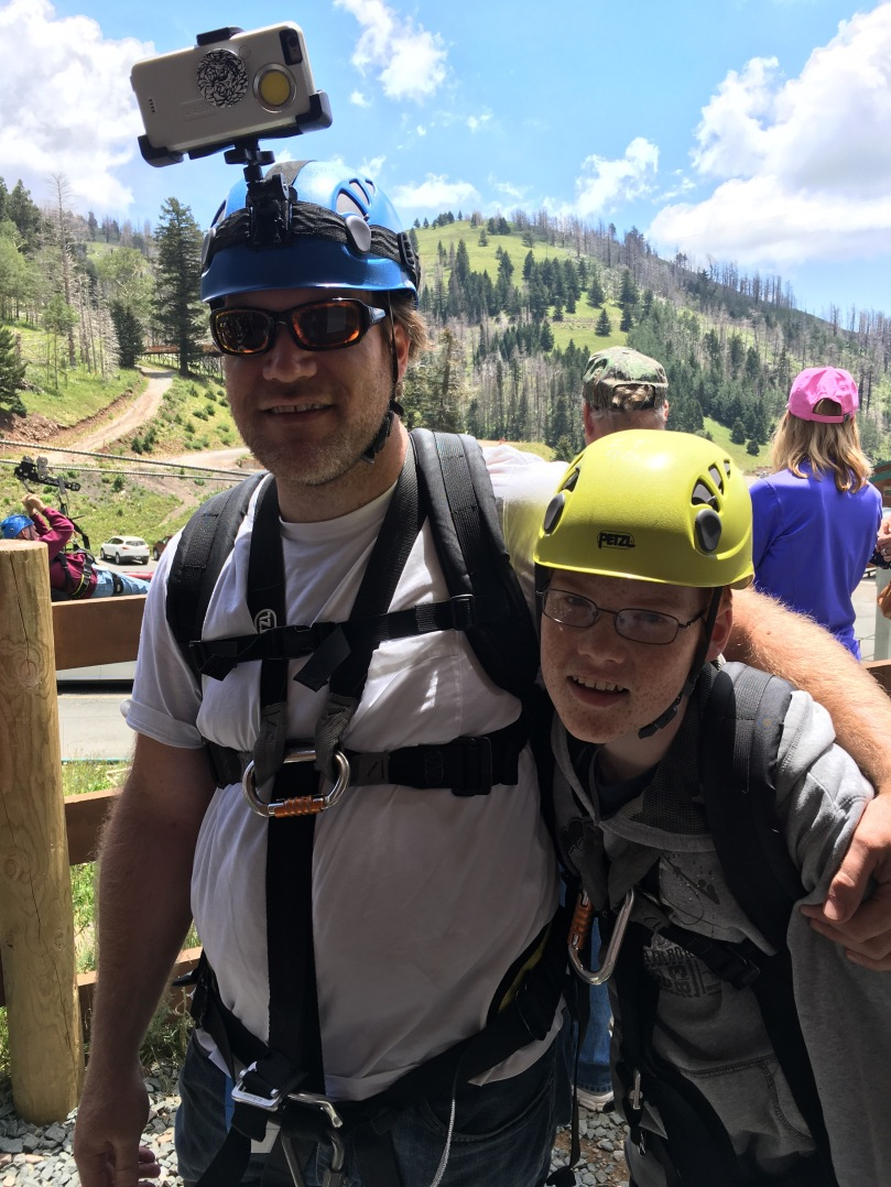 Windrider zipline at Ski Apache, Ruidoso nm