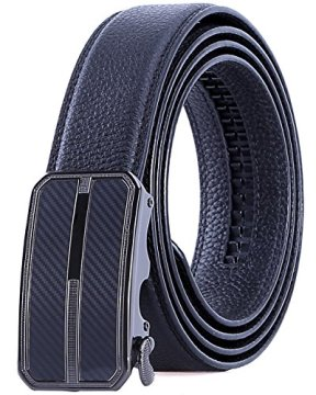 TANZKY Men's Leather Ratchet Dress Belt