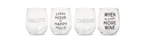 Wine glasses that are fun! From Target