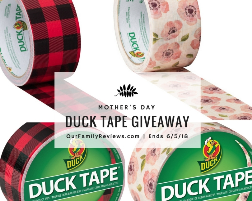 MOTHER'S DAY GIVEAWAY for your choice of 4 rolls of Pattern Duct Tape