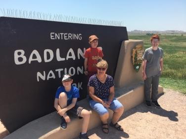 The Badlands National Monument in South Dakota