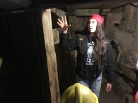 Our awesome tour guide at Big Thunder Goldmine in Keystone, South Dakota