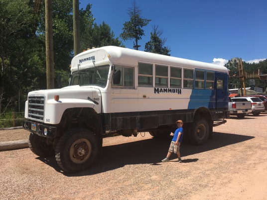 We saw this awesome monster truck bus in Keystone, SD