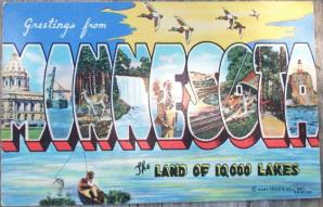 Minnesota Vintage Postcard