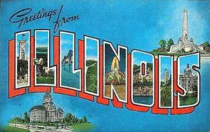 vintage ILLINOIS POSTCARD