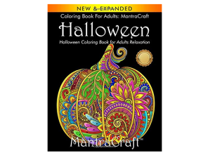 Halloween themed adult coloring book