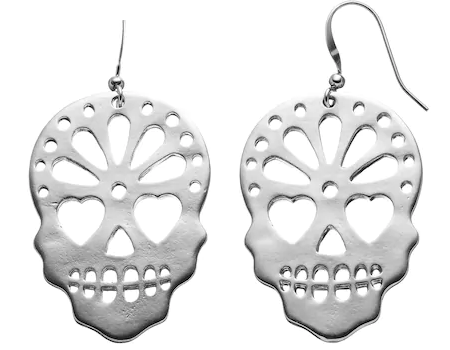 Day of the Dead Sugar Skull Earrings from Kohls.com