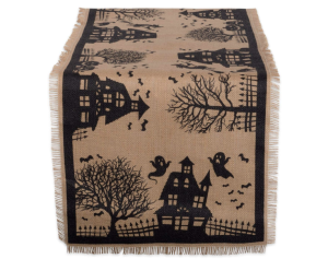 Burlap Halloween Table Runner