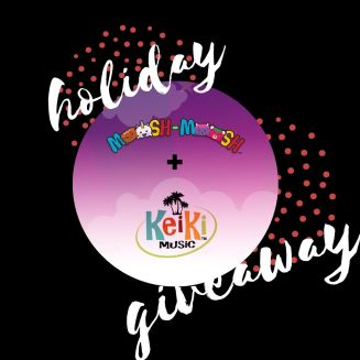 Enter our Giveaway to win 3 Moosh-Moosh plushies and 1 Ukulele from KeiKi Music