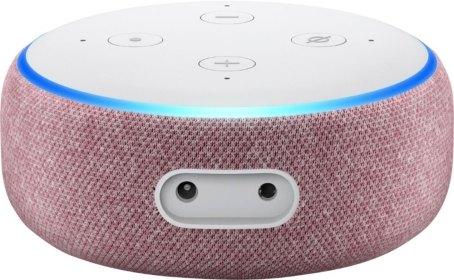 Amazon Echo Dot in plum