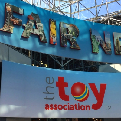 Entrance to the NY Toy Fair 2020