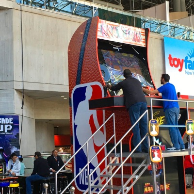 Arcade1up giant NBA video game at Toy Fair New York 2020