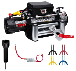 Electric winch for an off-road truck