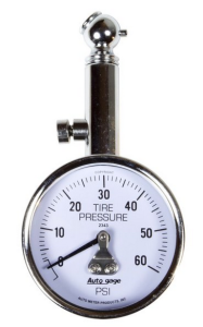 0-60 psi tire pressure gauge with pressure release valve from Carid.com
